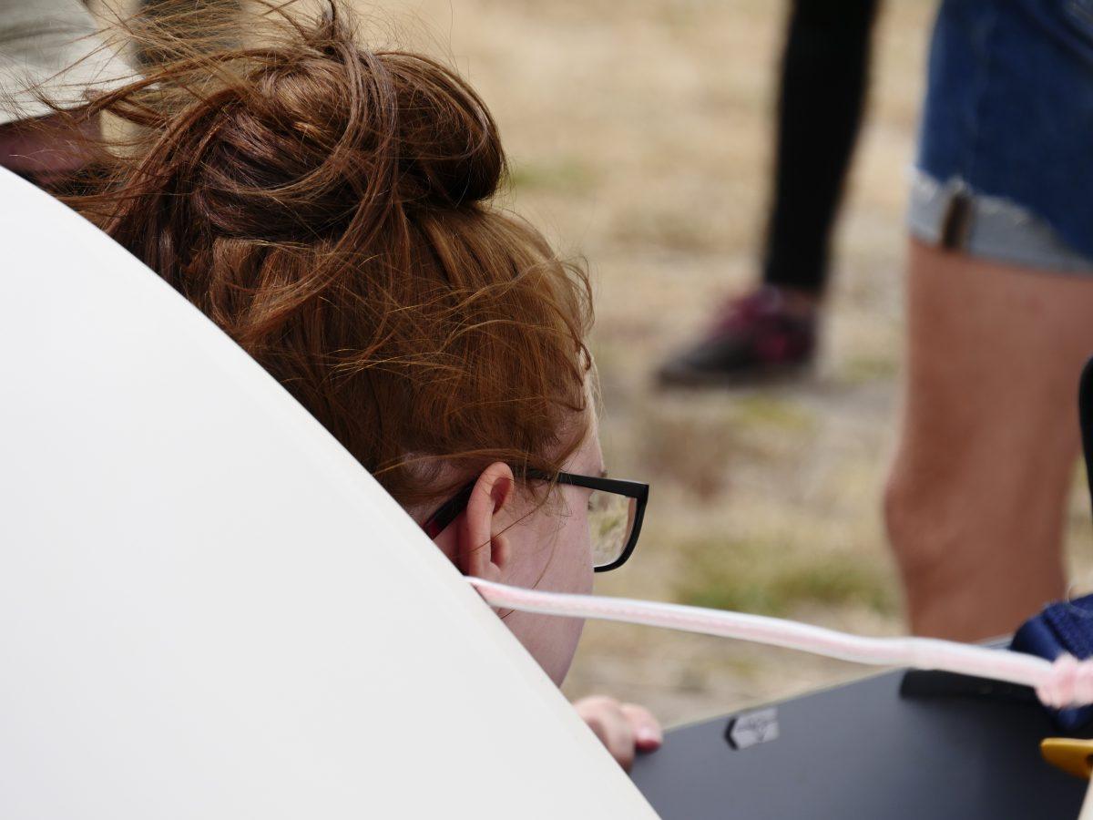 Segelflugzeug Fluggast Startklar